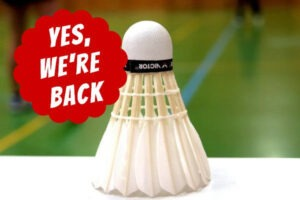Badmintonseizoen herstart op 2 september